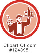 Waiter Clipart #1243951 by patrimonio