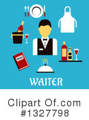 Waiter Clipart #1327798 by Vector Tradition SM
