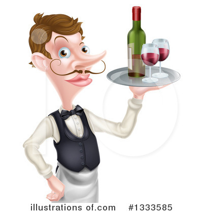 Waiter Clipart #1333585 by AtStockIllustration