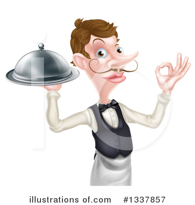 Waiter Clipart #1337857 by AtStockIllustration