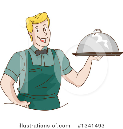 Waiter Clipart #1341493 by BNP Design Studio