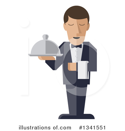 Waiter Clipart #1341551 by AtStockIllustration