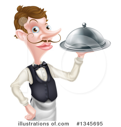 Waiter Clipart #1345695 by AtStockIllustration