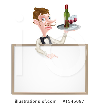 Waiter Clipart #1345697 by AtStockIllustration