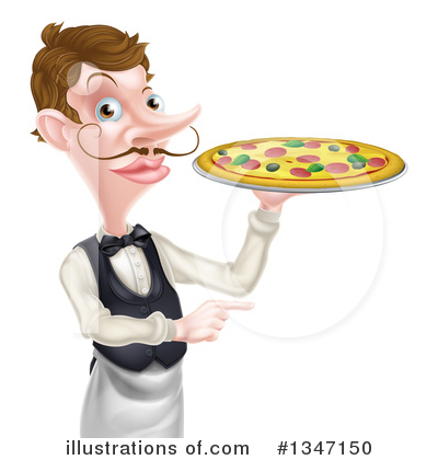 Waiter Clipart #1347150 by AtStockIllustration