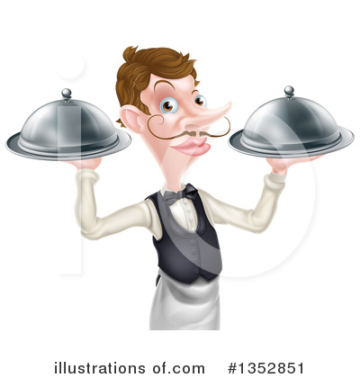 Waiter Clipart #1352851 by AtStockIllustration