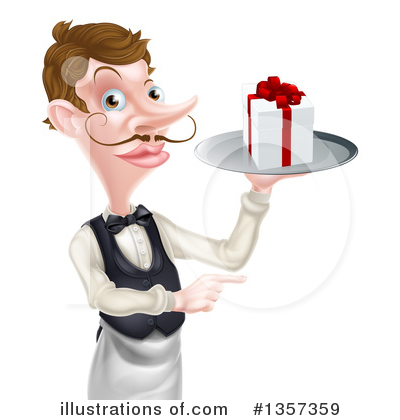 Waiter Clipart #1357359 by AtStockIllustration