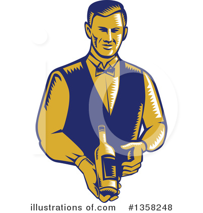 Waiter Clipart #1358248 by patrimonio