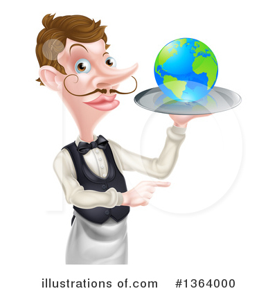 Waiter Clipart #1364000 by AtStockIllustration