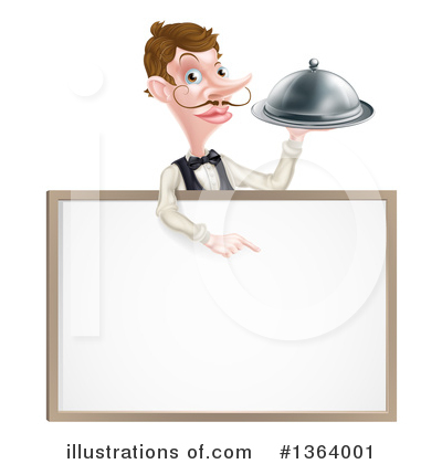 Waiter Clipart #1364001 by AtStockIllustration