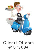 Waiter Clipart #1379694 by AtStockIllustration