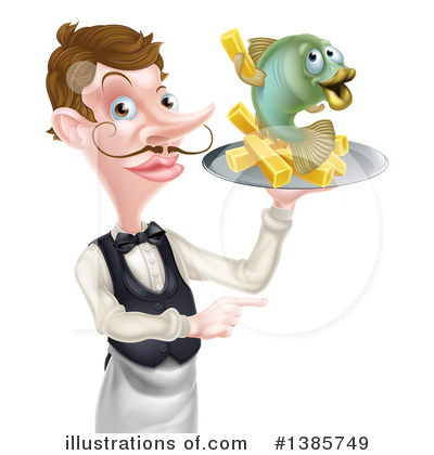 Waiter Clipart #1385749 by AtStockIllustration