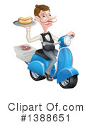Waiter Clipart #1388651 by AtStockIllustration