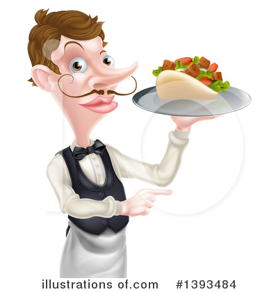 Waiter Clipart #1393484 by AtStockIllustration
