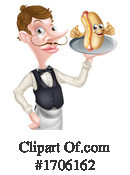 Waiter Clipart #1706162 by AtStockIllustration