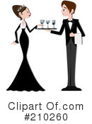 Royalty-Free (RF) waiter Clipart Illustration #210260