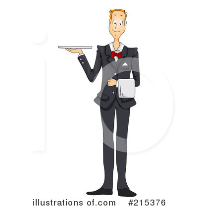 Waiter Clipart #215376 by BNP Design Studio