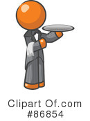 Royalty-Free (RF) Waiter Clipart Illustration #86854