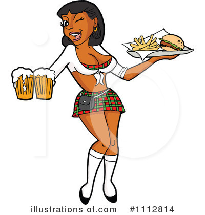 Waitress Clipart #1112814 by LaffToon