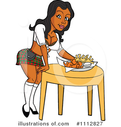 Waitress Clipart #1112827 by LaffToon
