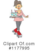 Royalty-Free (RF) Waitress Clipart Illustration #1177995