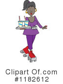 Waitress Clipart #1182612 by djart