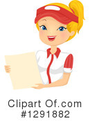 Royalty-Free (RF) Waitress Clipart Illustration #1291882