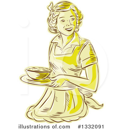 Housewife Clipart #1332091 by patrimonio