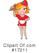 Royalty-Free (RF) waitress Clipart Illustration #17211