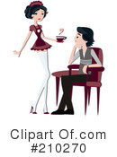 Royalty-Free (RF) Waitress Clipart Illustration #210270