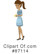 Royalty-Free (RF) Waitress Clipart Illustration #87114