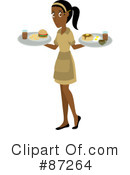 Royalty-Free (RF) Waitress Clipart Illustration #87264