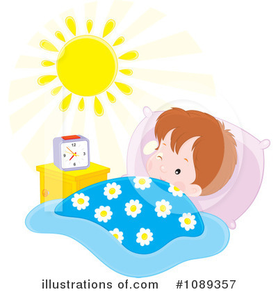 Royalty-Free (RF) Wake Up Clipart Illustration by Alex Bannykh - Stock Sample #1089357
