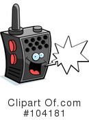 Royalty-Free (RF) Walkie Talkie Clipart Illustration #104181