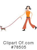 Royalty-Free (RF) Walking Dog Clipart Illustration #78505