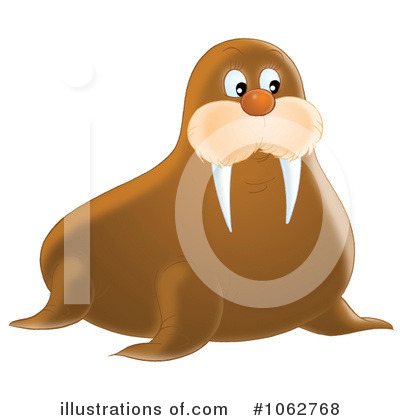 Walrus Clipart #1062768 by Alex Bannykh
