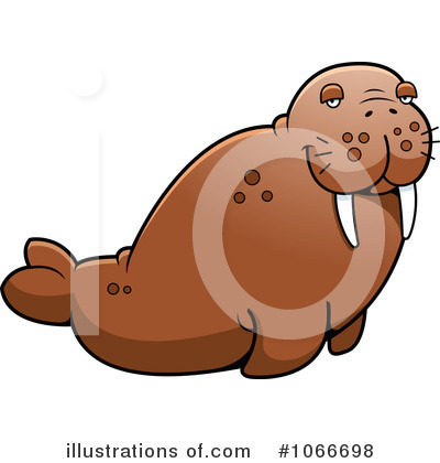 Walrus Clipart #1066698 by Cory Thoman