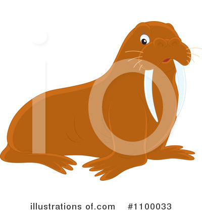 Walrus Clipart #1100033 by Alex Bannykh
