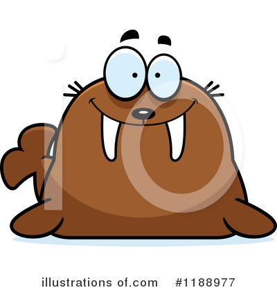 Walrus Clipart #1188977 by Cory Thoman