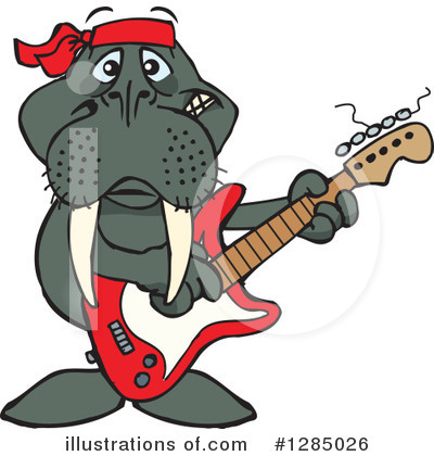 Walrus Clipart #1285026 by Dennis Holmes Designs