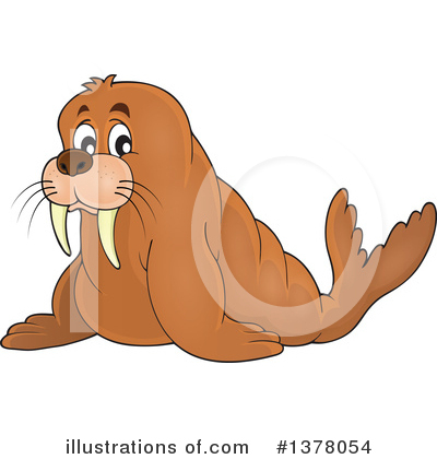 Walrus Clipart #1378054 by visekart