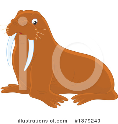 Walrus Clipart #1379240 by Alex Bannykh