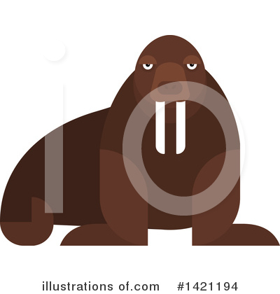 Walrus Clipart #1421194 by Vector Tradition SM