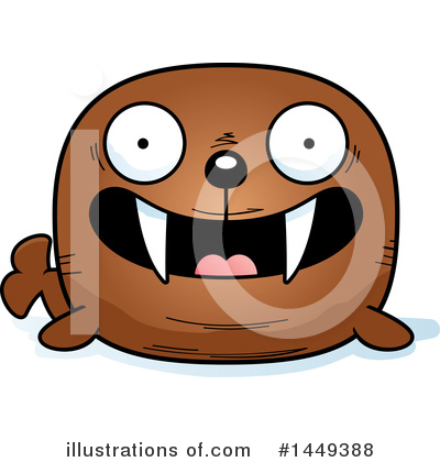 Walrus Clipart #1449388 by Cory Thoman