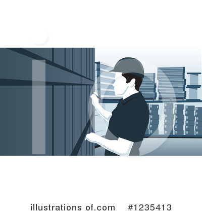 Warehouse Clipart #1235413 by David Rey
