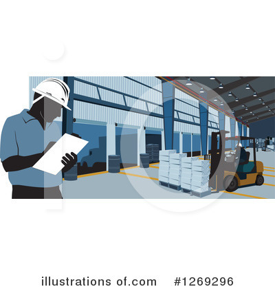 Warehouse Clipart #1269296 by David Rey