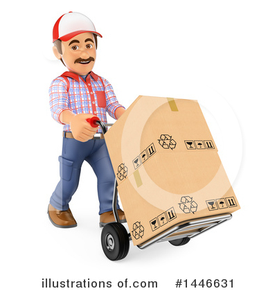 Delivery Man Clipart #1446631 by Texelart