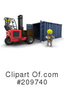 Royalty-Free (RF) warehouse Clipart Illustration #209740