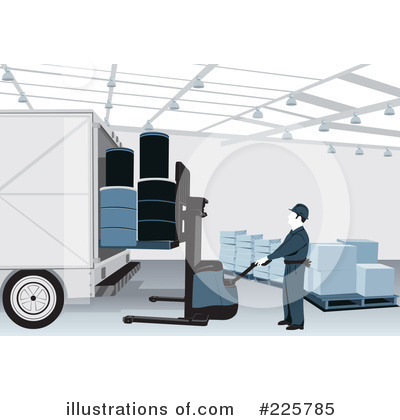 Royalty-Free (RF) Warehouse Clipart Illustration by David Rey - Stock Sample #225785