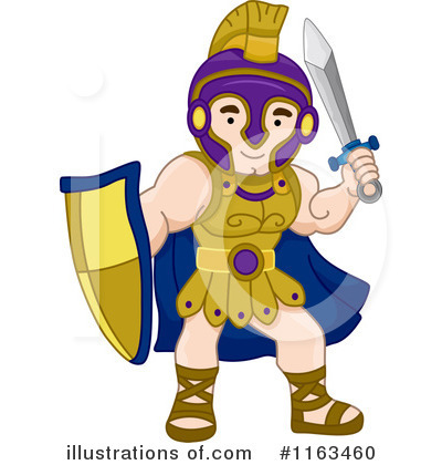 Greek Warrior Clipart #1163460 by BNP Design Studio